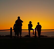 Watching the setting sun, July 2011 Broome  by Virginia  McGowan
