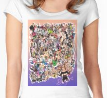 "Miley Cyrus ""Bangerz"" Mega Collage Women's Fitted Scoop T-Shirt"