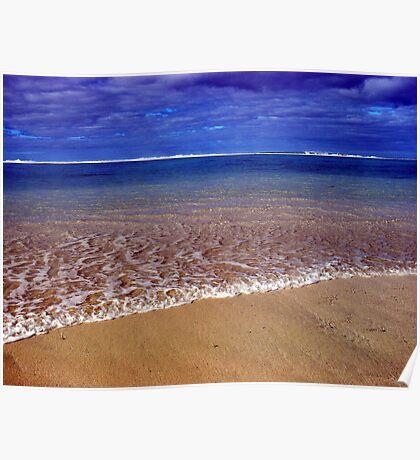 Sea side Rarotonga Poster