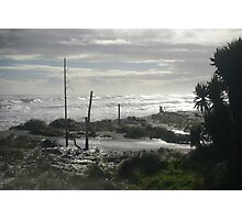 Troubled beach Photographic Print
