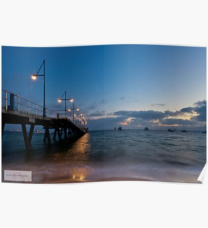 Rockingham Beach before Dawn Poster