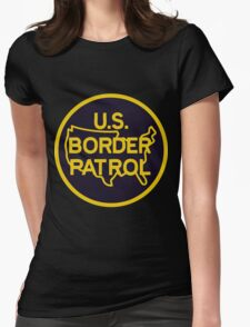 US Border Patrol Seal Sticker Womens Fitted T-Shirt