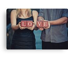 I Am In Love Canvas Print
