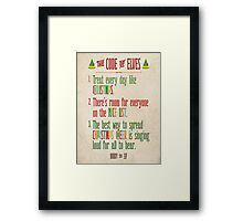 Buddy the Elf! The Code of Elves Framed Print