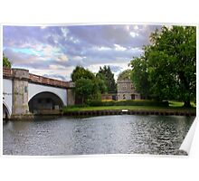 Gate house and bridge Poster