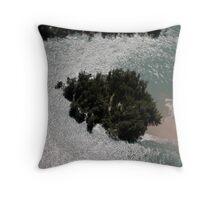 Aerial view of Mangroves  Throw Pillow