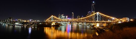 Brisbane City Panorama by Maxwell Campbell