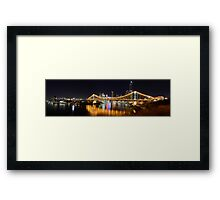 Brisbane City Panorama Framed Print