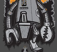 Robot Attack by wottoart
