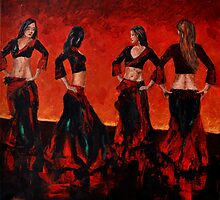 Dancers on the stage by Beata Belanszky Demko