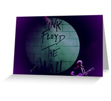 PINK PROJECT PLAYS THE WALL Greeting Card