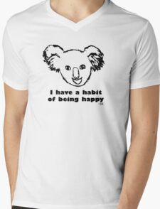 Habit of being happy Mens V-Neck T-Shirt