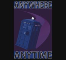 The TARDIS, Anywhere, Anytime Kids Clothes