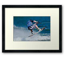 Water Boarding Framed Print