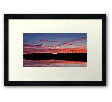 River Tees Sunset Framed Print