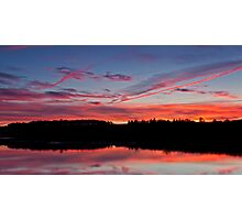 River Tees Sunset Photographic Print