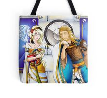 Meeting the tower Tote Bag