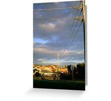 Suburbia Sunset Greeting Card