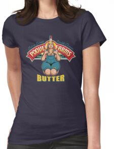 Poovey Farms Butter Womens Fitted T-Shirt