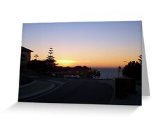 Sunset On Eric Street Greeting Card