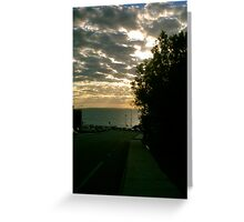 Sunset On Eric Street Two Greeting Card