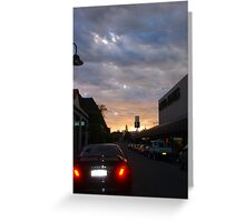 Sunset On David Jones Greeting Card