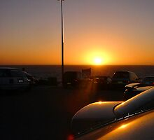Cottesloe Carpark Sunset Five by Robert Phillips