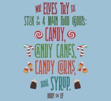 Buddy the Elf - The Four Main Food Groups Kids Tee