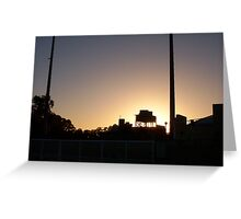 Sunset Aquatic Centre Three Greeting Card