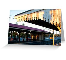 Sunset Claremont Station Greeting Card