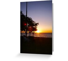 Sunset City Beach Two Greeting Card