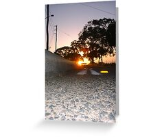 Sunset Railway Road Three Greeting Card