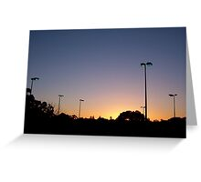 Sunset Aquatic Centre Greeting Card