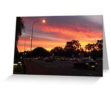 University Sunset Greeting Card