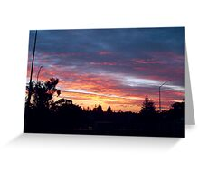 Suburban Sunset One Greeting Card