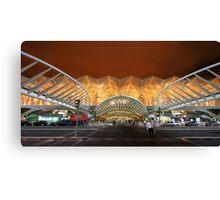 the span. Gare do Oriente. Lisbon Canvas Print