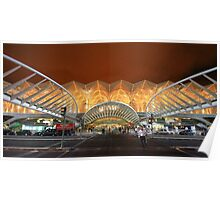 the span. Gare do Oriente. Lisbon Poster