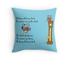 Hickory, Dickory Dock Throw Pillow