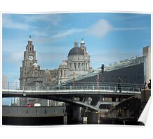 Iconic Contrasting Liverpool Skyline, Liverpool, Merseyside Poster