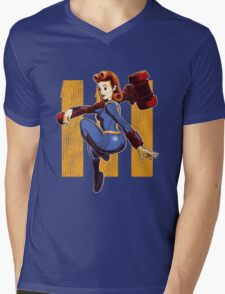 Vault Girl Mens V-Neck T-Shirt