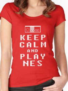 KEEP CALM AND PLAY NES - Parody Women's Fitted Scoop T-Shirt