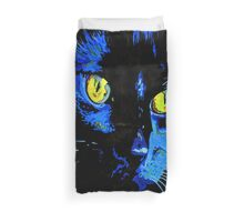 Marley The Cat Portrait With Striking Yellow Eyes Duvet Cover