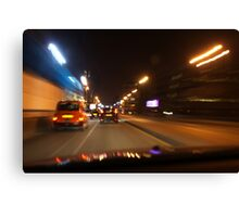 Glasgow taxi at night Canvas Print
