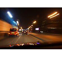 Glasgow taxi at night Photographic Print