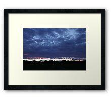 Clouds at sunset 1 Framed Print