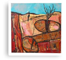 tree in the rock Canvas Print