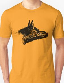 Angry Wolf Drawing T-Shirt