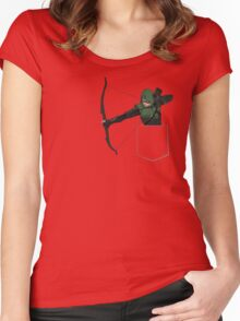 Arrow in my Pocket Women's Fitted Scoop T-Shirt
