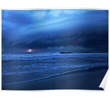 Lightning on the Ocean Poster