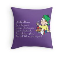 Little Jack Horner Throw Pillow